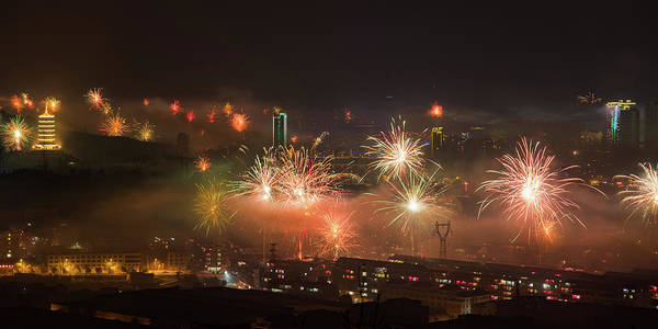 Photograph - Chinese New Year Fireworks 2018 IIi by William Dickman