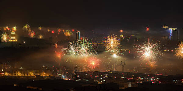 Photograph - Chinese New Year Fireworks 2018 Iv by William Dickman