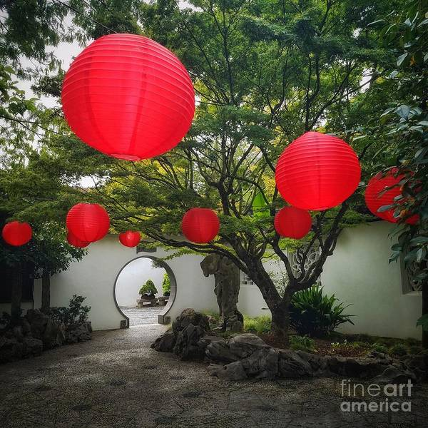 Chinese Tea Garden In Portland, Oregon Art Print