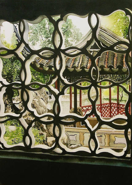Painting - Chinese Window by Alfred Ng