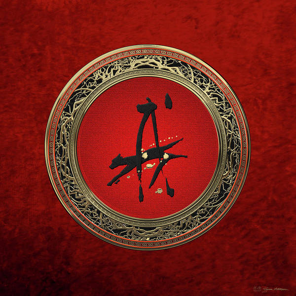 Fate Digital Art - Chinese Zodiac - Year Of The Dog On Red Velvet by Serge Averbukh