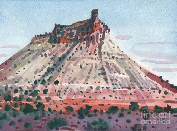 Butte Painting - Chinmey Rock by Donald Maier