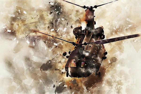 Chs Digital Art - Chinook Casevac Painting by J Biggadike