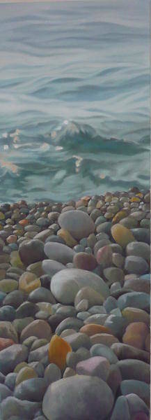 Painting - Chios Pebbles by Caroline Philp