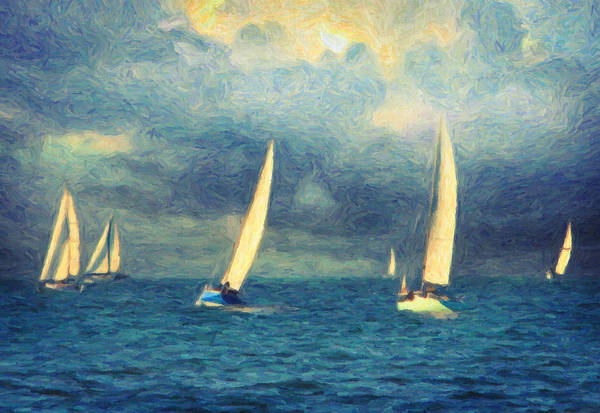 Sailing Painting - Chios by Zapista Zapista