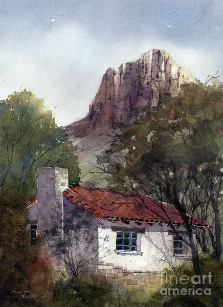 Bend Painting - Chisos Basin Cabin by Tim Oliver