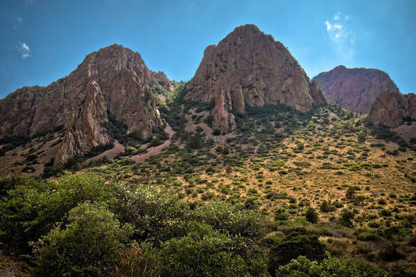 Middle Of Nowhere Photograph - Chisos Mountain Range by Linda Unger