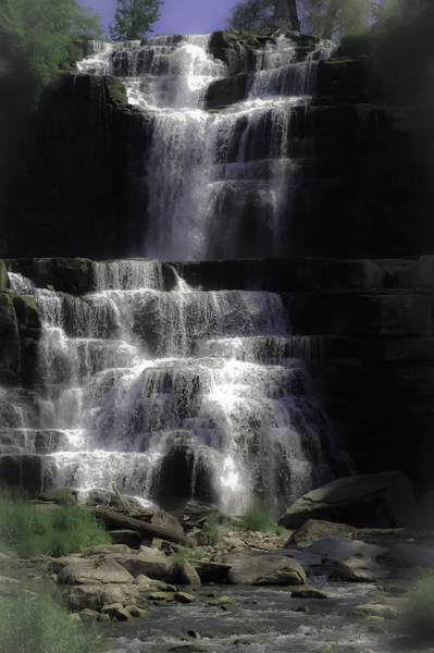 Vibrations Digital Art - Chittenango Falls by DigiArt Diaries by Vicky B Fuller