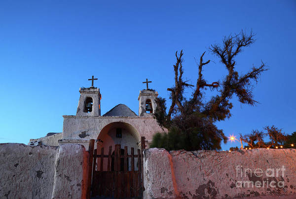 Photograph - Chiu Chiu Church At Twilight Chile by James Brunker