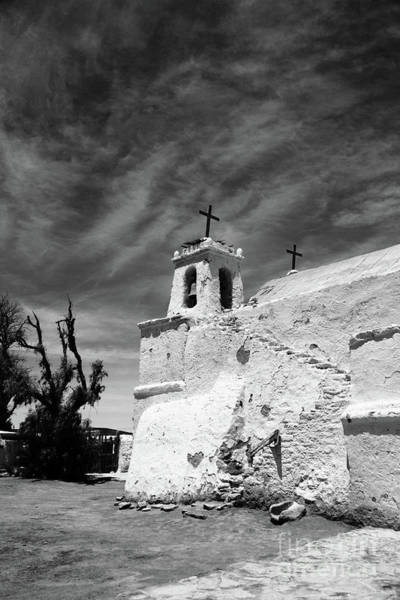 Photograph - Chiu Chiu Church In Black And White Chile by James Brunker