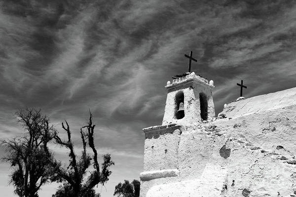 Photograph - Chiu Chiu Church In Greyscale Chile by James Brunker