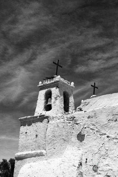Photograph - Chiu Chiu Church In Monochrome Chile by James Brunker