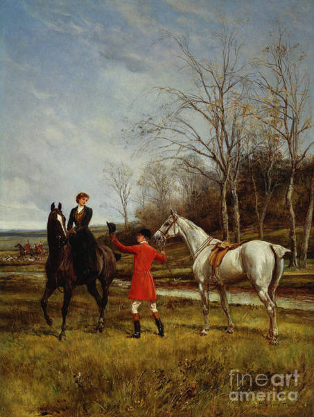 Huntsmen Wall Art - Painting - Chivalry by Heywood Hardy