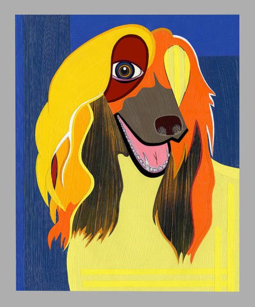 Painting - Chloe The Afghan Hound by Ruby Persson