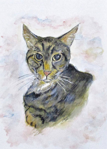 Painting - Chloe The Cat by Clyde J Kell