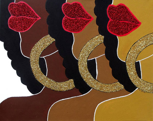 Hoops Painting - Chocolate 2 Honey by Kimberly Lewis