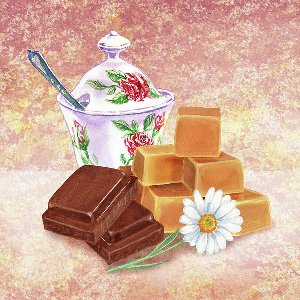 Painting - Chocolate And Caramel Two Guilty Pleasures by Irina Sztukowski