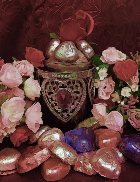 Mixed Media - Chocolate And Romance by Pamela Walton