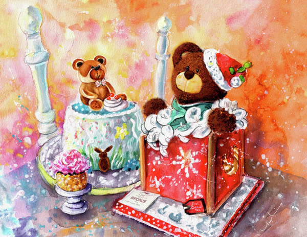 Painting - Chocolate Bear Cakes In Thirsk by Miki De Goodaboom