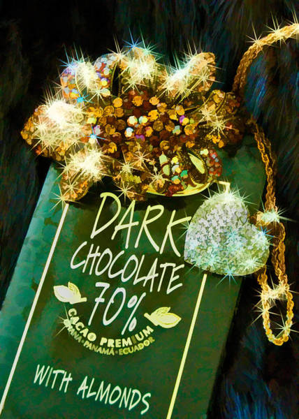 Photograph - Dark Chocolate, Bling And Mink Valentine's Card by Ginger Wakem