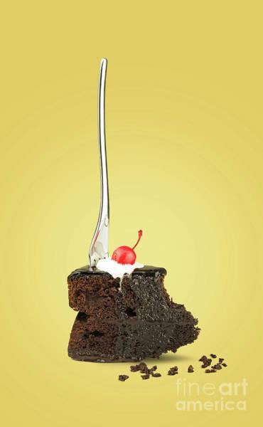 Souse Photograph - Chocolate Cake Yellow by Kira Yan