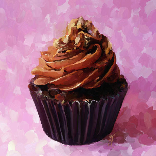 Icing Painting - Chocolate Cupcake by Jai Johnson
