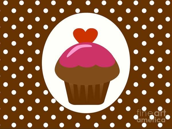 Icing Digital Art - Chocolate Cupcake  by Kourai