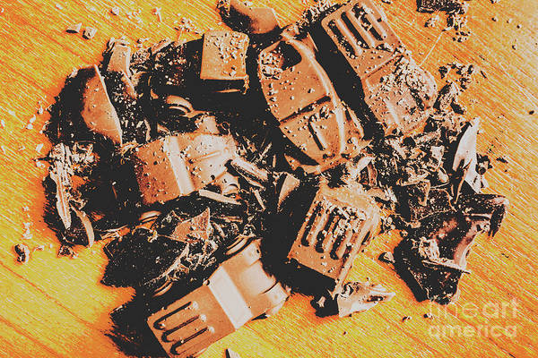 Car Part Photograph - Chocolate Demolition Derby by Jorgo Photography - Wall Art Gallery