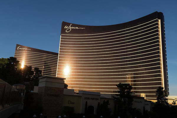 Photograph - Chocolate Gold Buildings - Wynn And Encore Las Vegas by Georgia Mizuleva