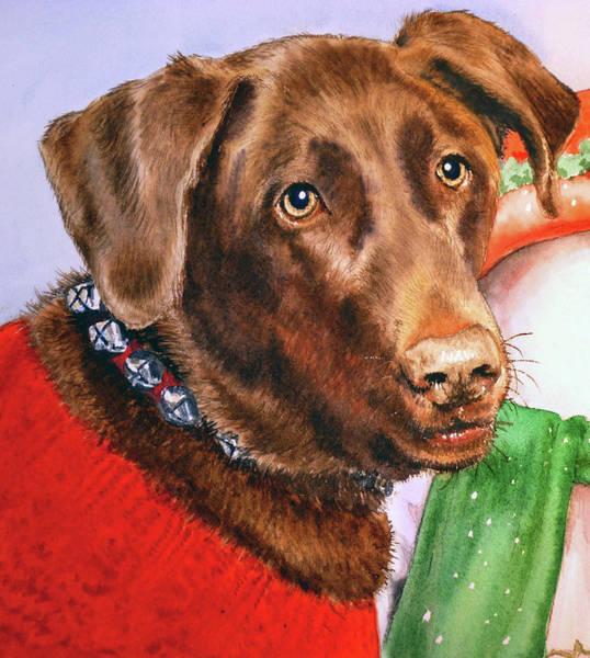 Painting - Chocolate Labrador by Irina Sztukowski