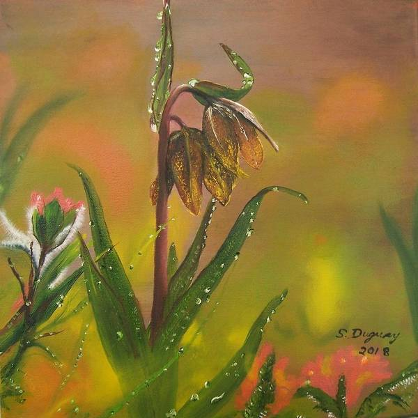 Painting - Chocolate Lily After The Rain by Sharon Duguay