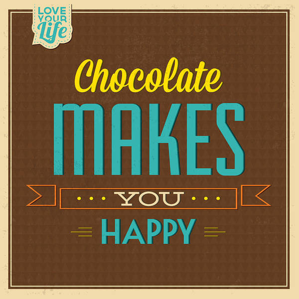 Laughs Wall Art - Photograph - Chocolate by Naxart Studio