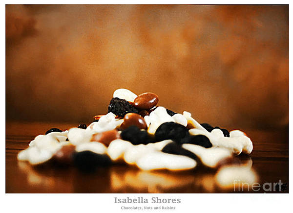 Vegetarian Digital Art - Chocolate Nuts And Raisins by Abbie Shores
