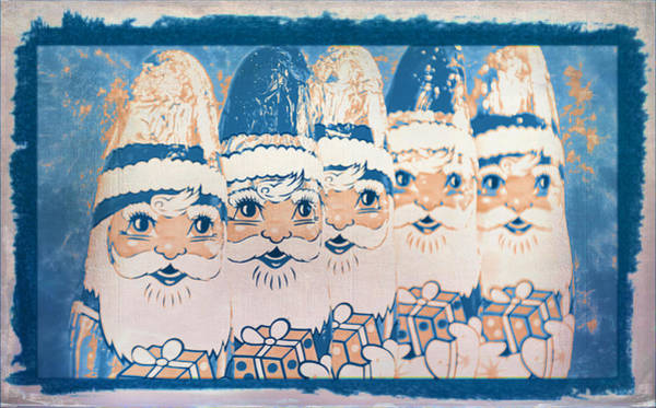 Photograph - Chocolate Santas by Bellesouth Studio
