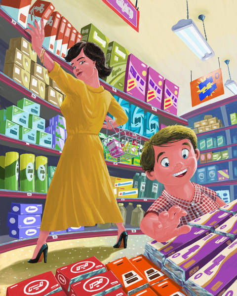 Painting - Chocolate Shopping by Martin Davey