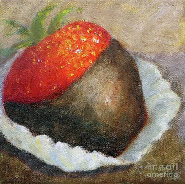 Painting - Chocolate Strawberry by Carolyn Jarvis