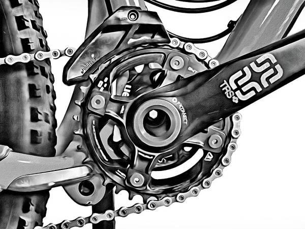 Grayscale Digital Art - Choice Transport 1 Bw by Wendy J St Christopher
