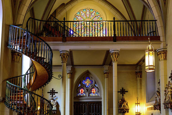 Loretto Chapel Photograph - Choir Loft - Loretto Chapel - Santa Fe - New Mexico by Jon Berghoff