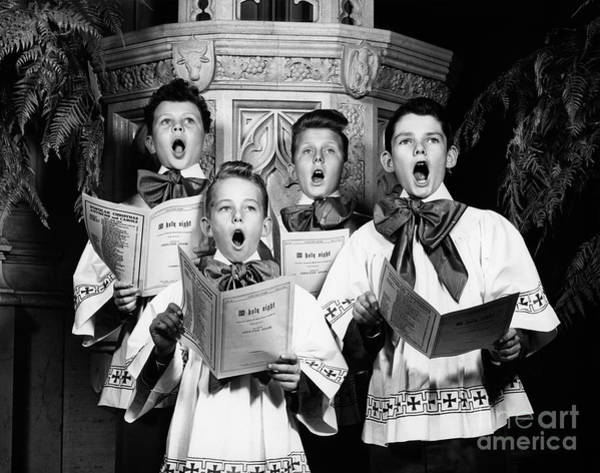 Carol Singing Photograph - Choirboys Singing, C.1940s by H. Armstrong Roberts/ClassicStock