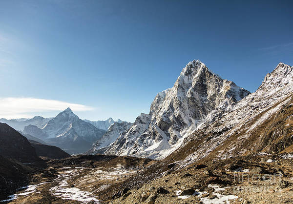 Photograph - Cholaste And Ama Dablam In Nepal Himalayas by Didier Marti
