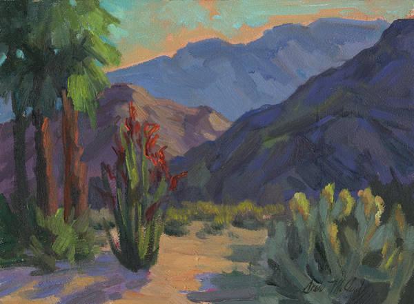 Ocotillo Wall Art - Painting - Cholla At Smoketree Ranch by Diane McClary