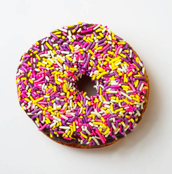 Wall Art - Photograph - Cholocate Donut With Sprinkles by Garry Gay
