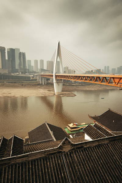 Photograph - Chongqing Bridge Old House by Songquan Deng