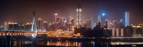 Photograph - Chongqing Skyline At Night by Songquan Deng