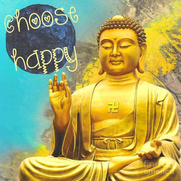 Mixed Media - Choose Happy by Lita Kelley