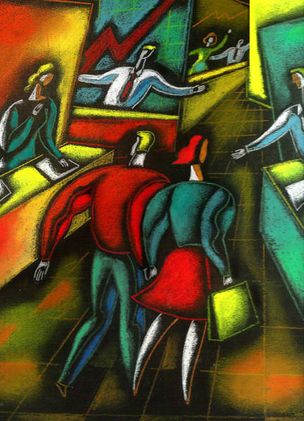 Boyfriend Painting - Choosing And Investing by Leon Zernitsky