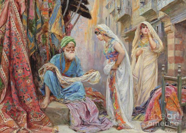 Wall Art - Painting - Choosing The Silk  by Fabio Fabbi