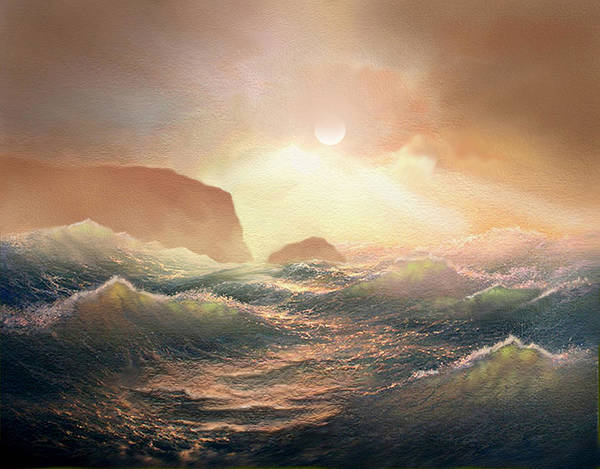 Wave Breaking Painting - Chop by Robert Foster