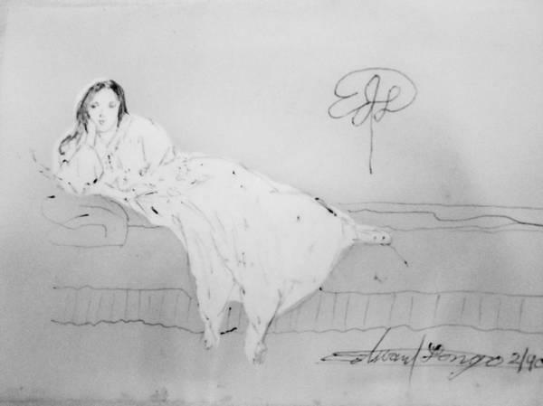 Drawing - Chopin's Woman by Edward Longo