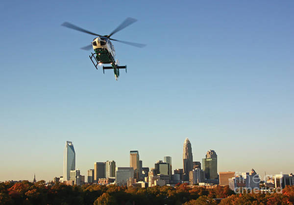 Photograph - Chopper Over Charlotte by Kevin McCarthy